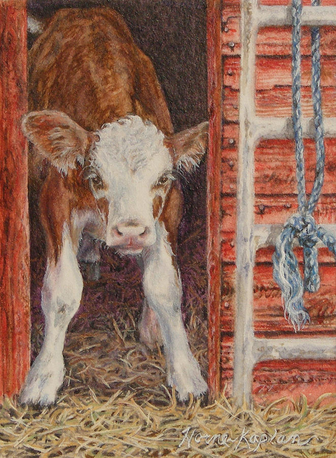 Swiss Calf, Got Milk? by Denise Horne-Kaplan