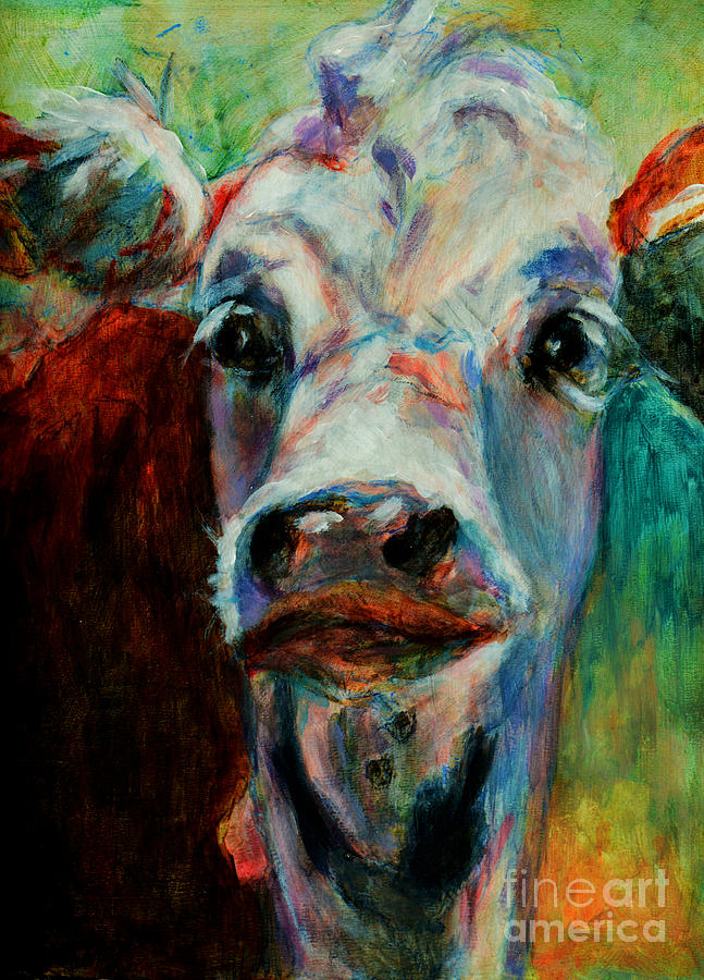 Swiss Painting - Swiss Cow - 1 by David Van Hulst