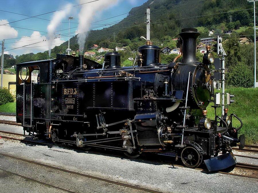 Swiss Steam Locomotive Photograph By Anthony Dezenzio