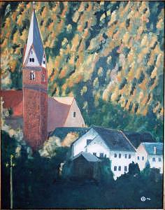Swiss Village Painting by Frank Sharp