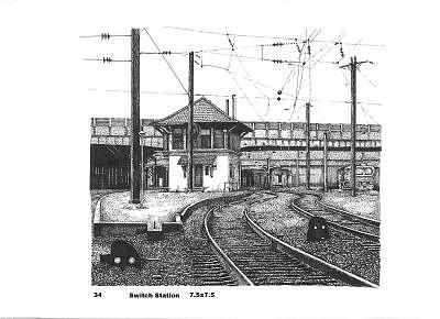 Switch Station Drawing by John  R Harris