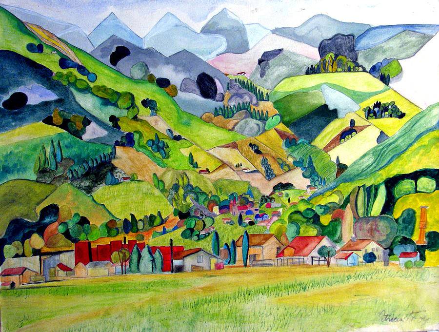 Landscape Painting - Switzerland by Patricia Arroyo