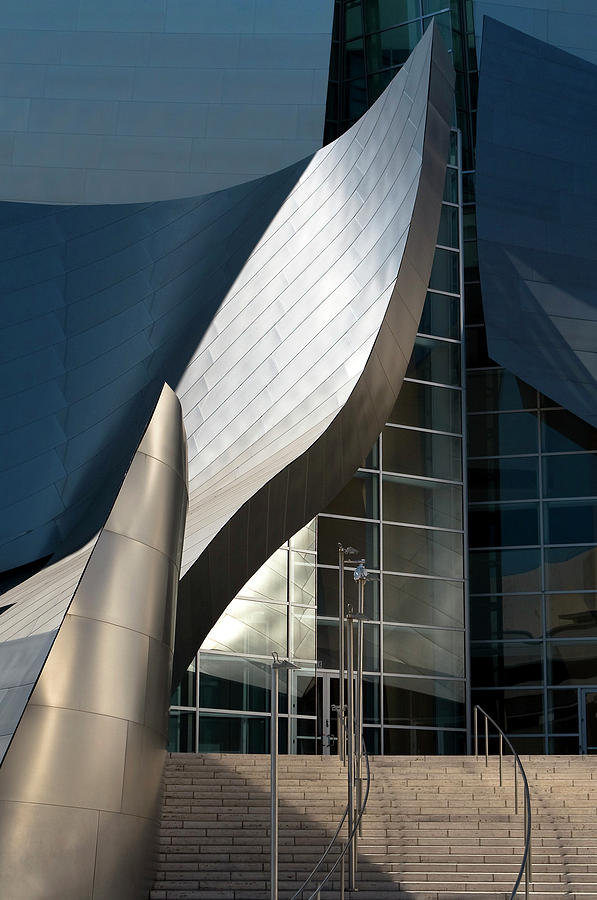 Swoops and Lines of Disney Hall by Lorraine Devon Wilke