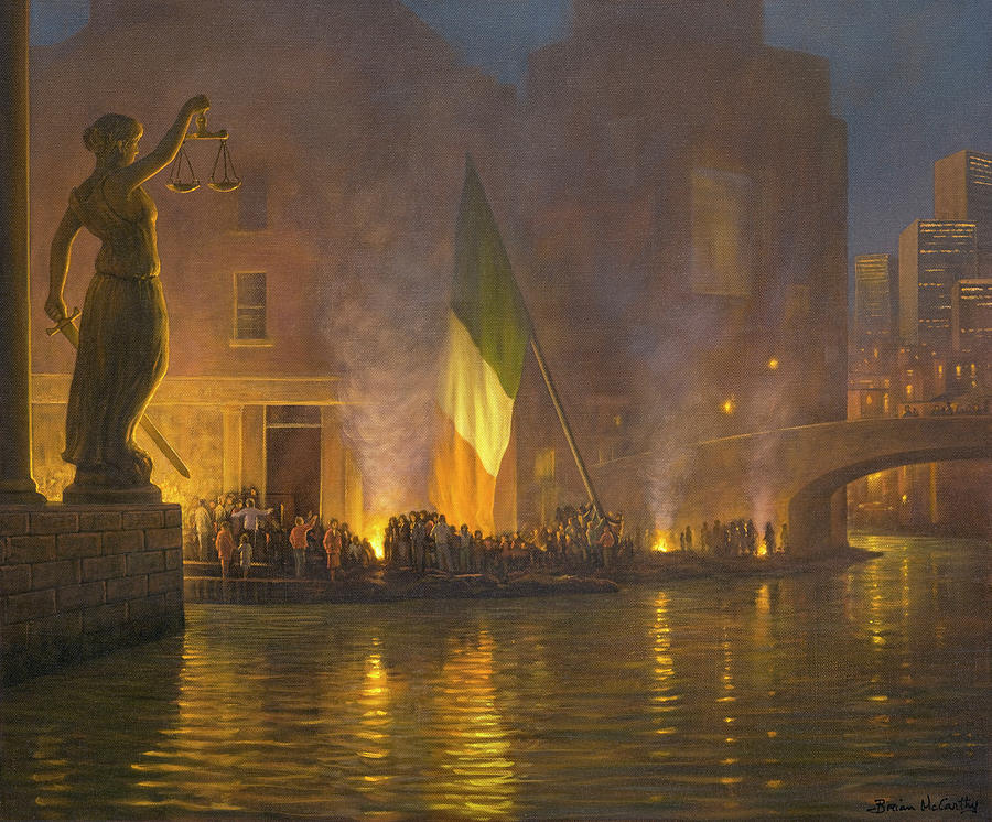 Sword Painting - Sword of Justice in Ireland by Brian McCarthy