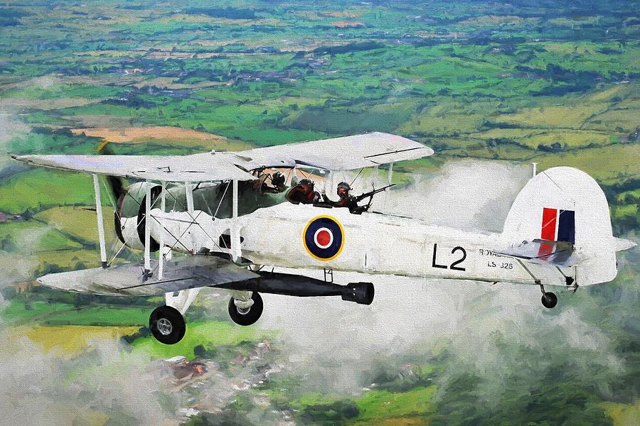 British Digital Art - Swordfish Aircraft 2 by Roy Pedersen