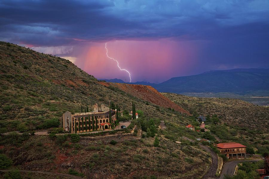 Sycamore Canyon Lightning with Little Daisy by Ron Chilston