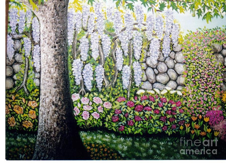 Sycamore Tree Painting - Sycamore Garden by William Ohanlan
