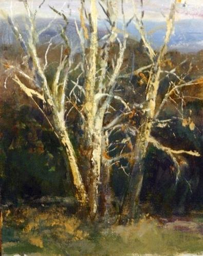 Sycamores On The Irvine Ranch Painting by Gil Dellinger