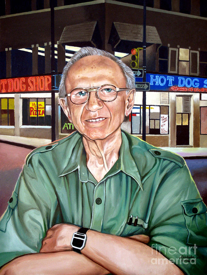 Syd Simon Painting - Syd Simon  by Christopher Shellhammer