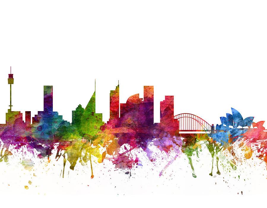 Sydney Drawing - Sydney Australia Cityscape 06 by Aged Pixel