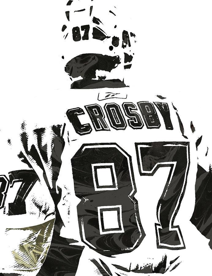 Sydney Crosby Pittsburgh Penguins Pixel Art 2 Mixed Media By Joe