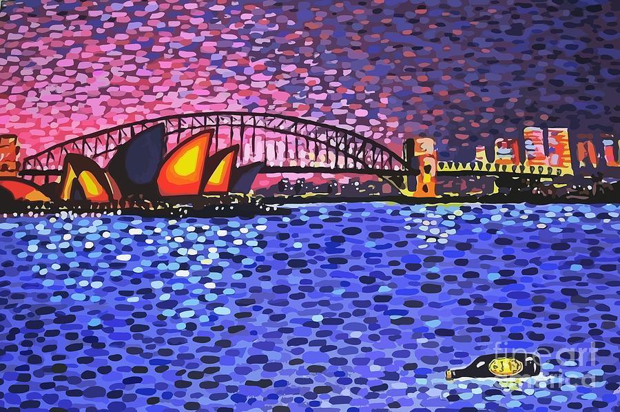 Sydney Painting - Sydney Harbour by Alan Hogan
