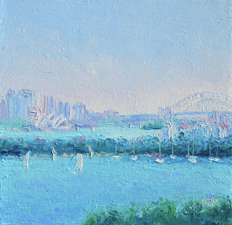 Sydney Harbour Painting - Sydney Harbour And The Opera House by Jan Matson