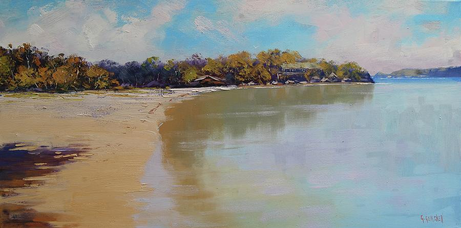 Nature Painting - Sydney Harbour Beach by Graham Gercken