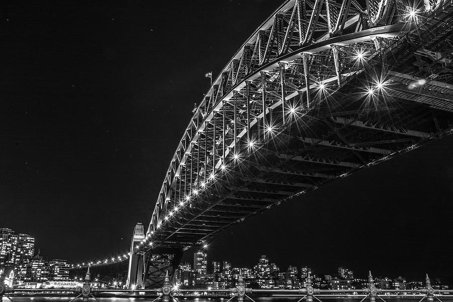 Sydney Harbour Bridge At Night Photograph