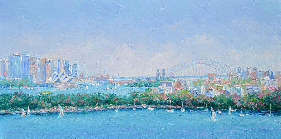 Sydney Harbour Painting - Sydney Harbour Bridge - Sydney Opera House - Sydney Harbour by Jan Matson