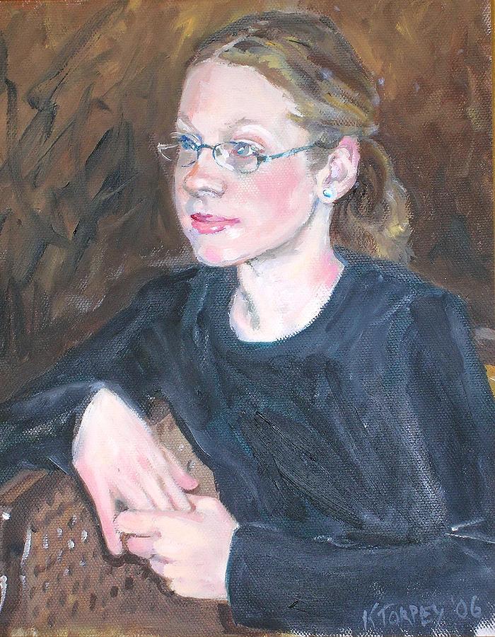 Portrait Painting - Sydney by Katherine Torpey