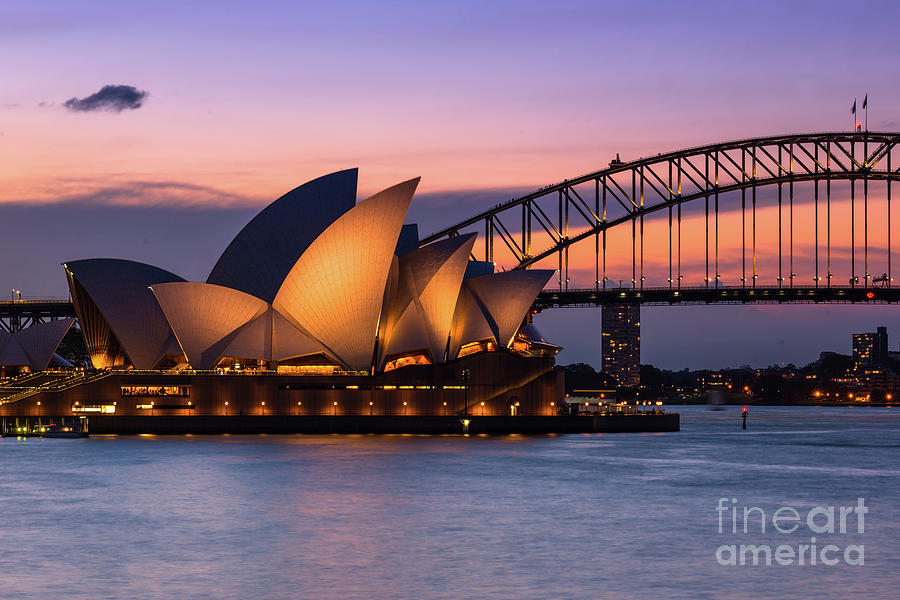 sydney opera house and harbour bridge after sunset andrew michael - 30+ Free Images Of Sydney Opera House  Background