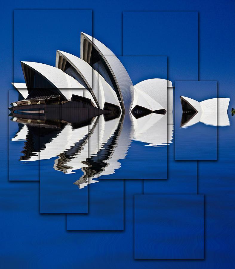 Sydney Opera House Photograph - Sydney Opera House Collage by Sheila Smart Fine Art Photography