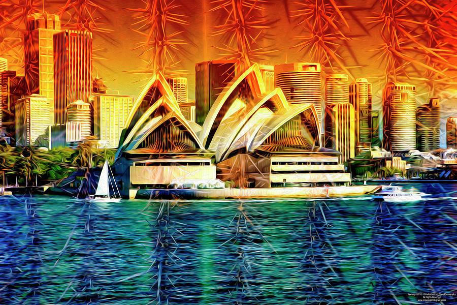 Sydney Digital Art - Sydney Opera House Composite by Christopher Eng-Wong