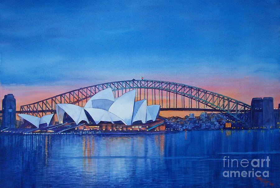 Blue Painting - Sydney Opera House by Dani Tupper