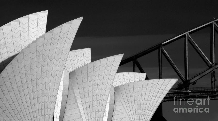 Sydney Opera House Photograph - Sydney Opera House with bridge backdrop by Sheila Smart Fine Art Photography