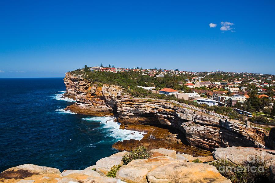 Sydney Photograph - Sydney Sandstone Clifftop by John Buxton