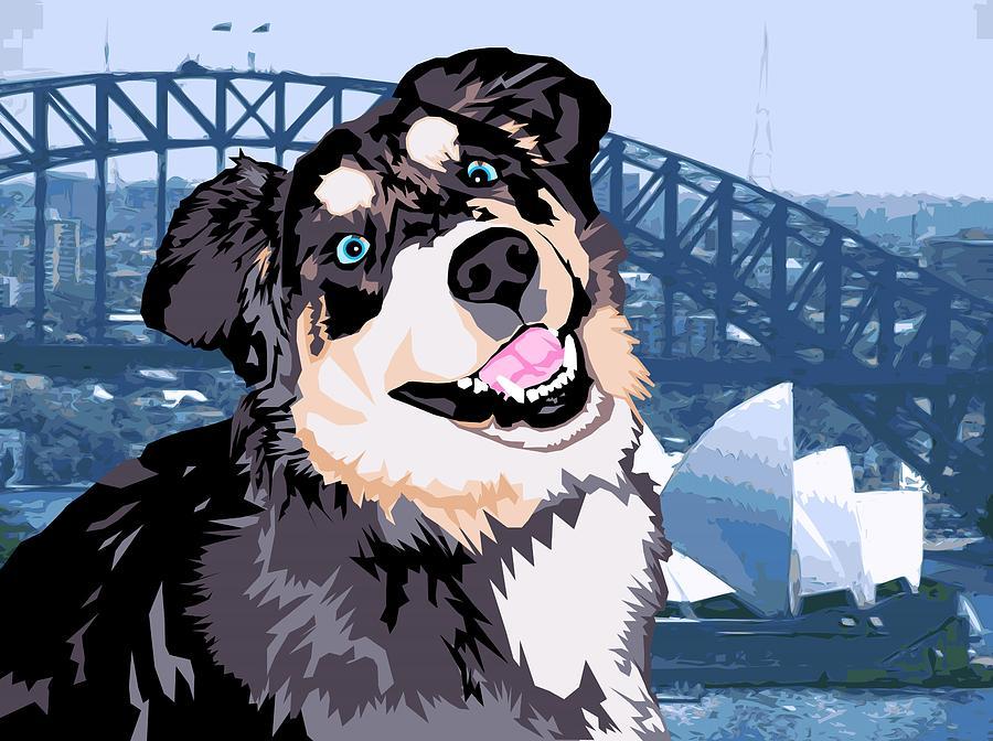 Dog Digital Art - Sydney by Sarah Crumpler