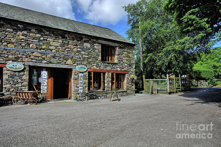 Buttermere Photograph - Syke Farm Tea Room by Smart Aviation