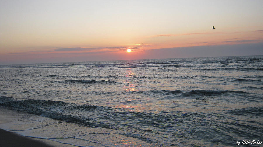 Sylt Photograph - Sylt Sun Set by Heidi Sieber