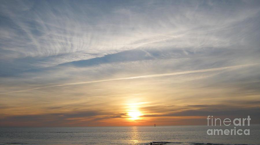 Seascape Photograph - Sylt sunset 4 by Heidi Sieber