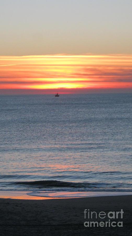 Seascape Photograph - Sylt sunset 5 by Heidi Sieber