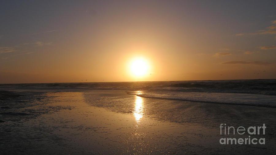 Seascape Photograph - Sylt sunset 6 by Heidi Sieber