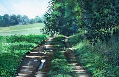 Landscape Painting - Sylvan Trail by William  Brody