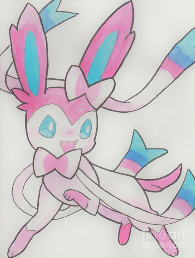 Sylveon Painting - Sylveon by Brittany Caughell
