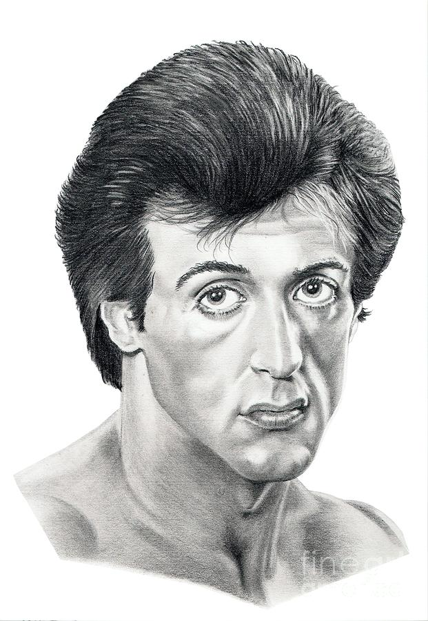 Sylvester Stallone Drawing By Murphy Elliott