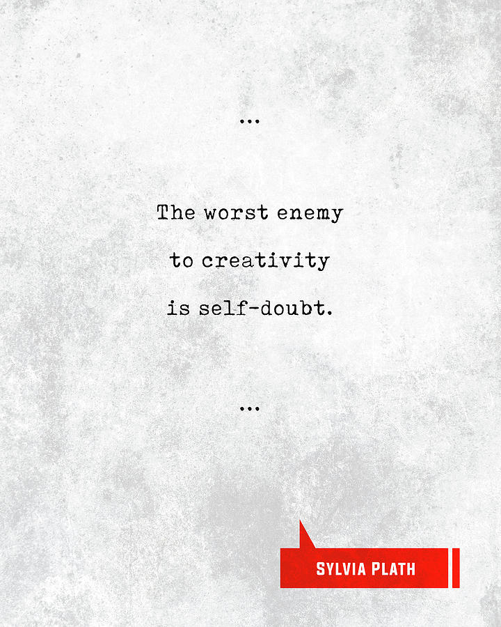 Sylvia Plath Mixed Media - Sylvia Plath Quotes - Literary Quotes - Book Lover Gifts - Typewriter Quotes - Motivational Quotes by Studio Grafiikka