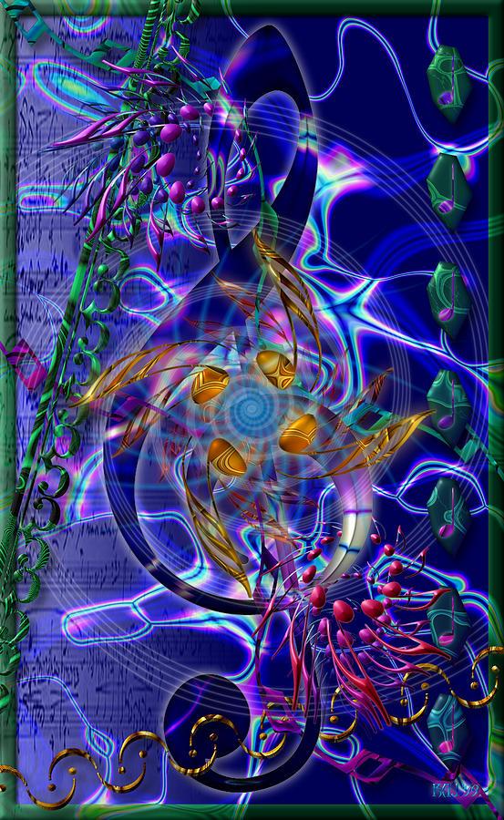 Music Symbols Digital Art - Symagery 20 by Kenneth Armand Johnson