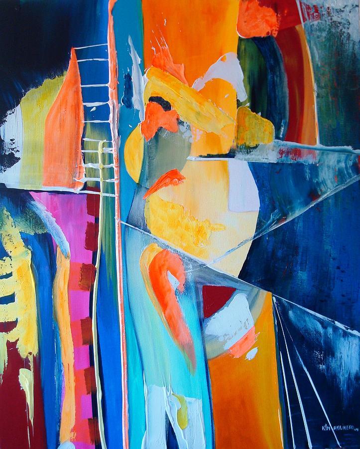 Tela Painting - Symbiose V by Kim Molinero