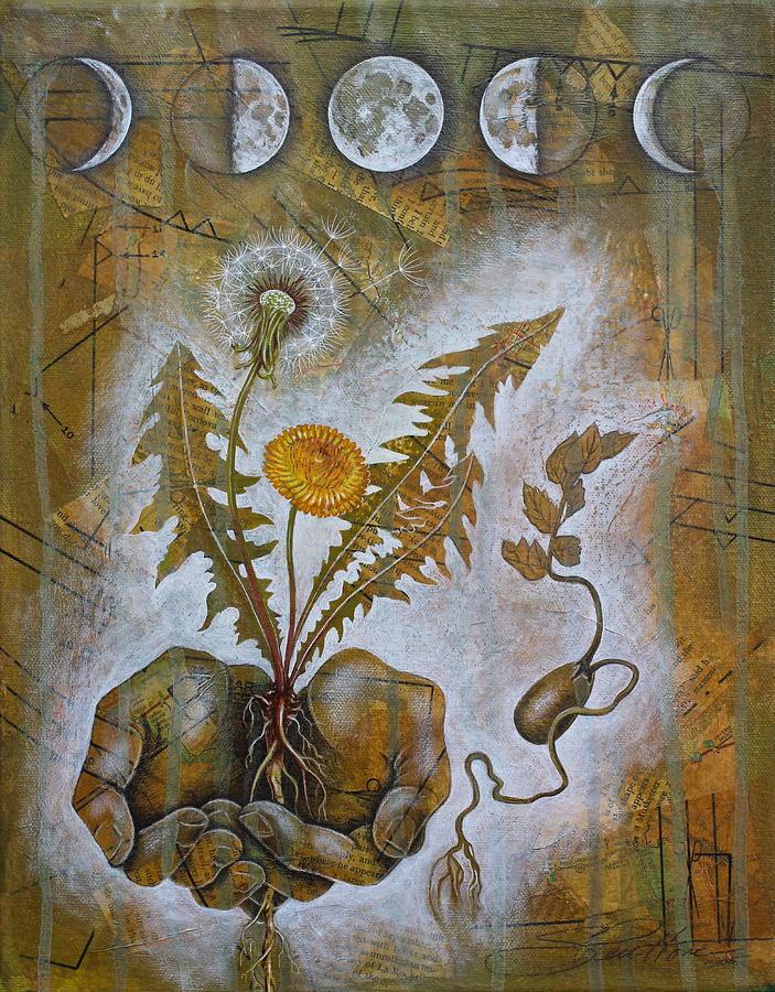 Moon Mixed Media - Symbiosis by Sheri Howe