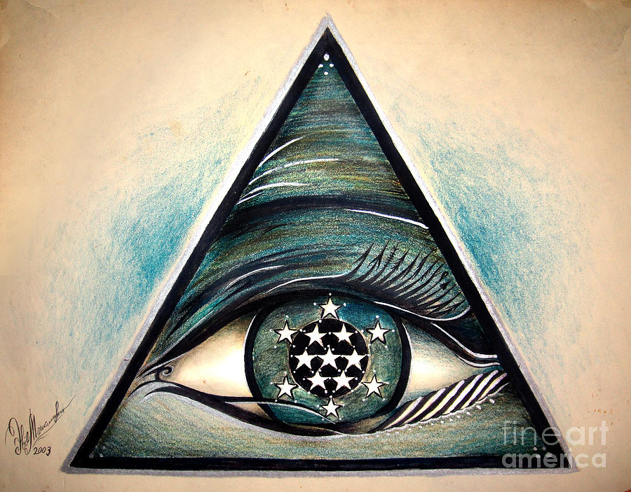 Symbol Of Creator Of The Universe For Magical Protection Drawing By