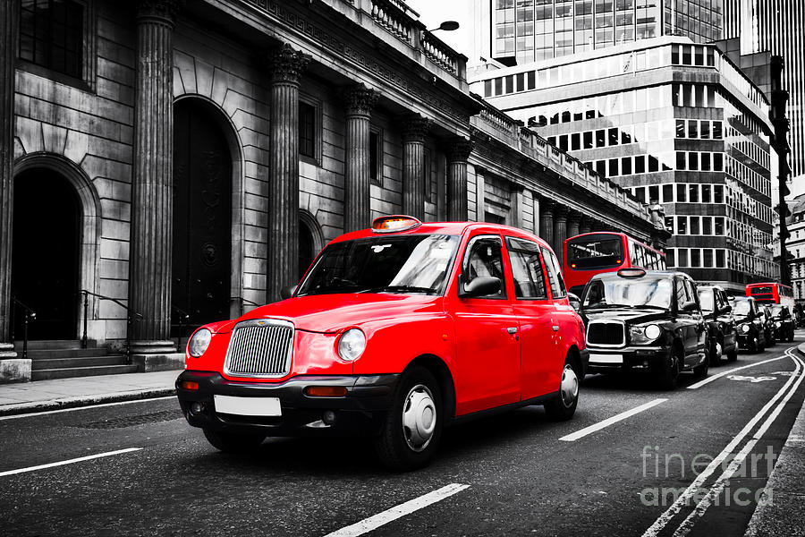 Symbol Of London The Uk Taxi Cab Known As Hackney Carriage