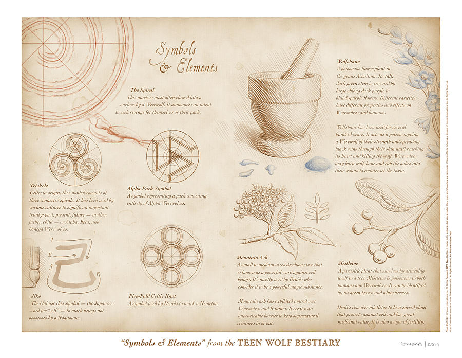 Symbols And Elements Digital Art By Swann Smith