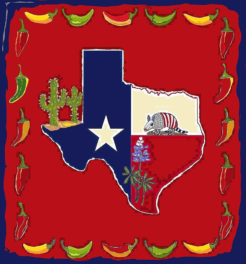 Symbols Of Texas Digital Art By Suzanne Theis