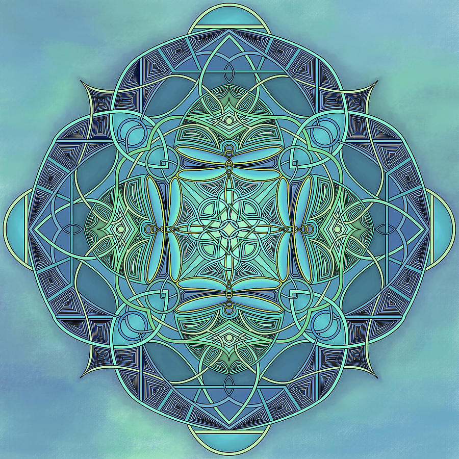 Design Digital Art - Symmetrical #12 by Marion Sipe