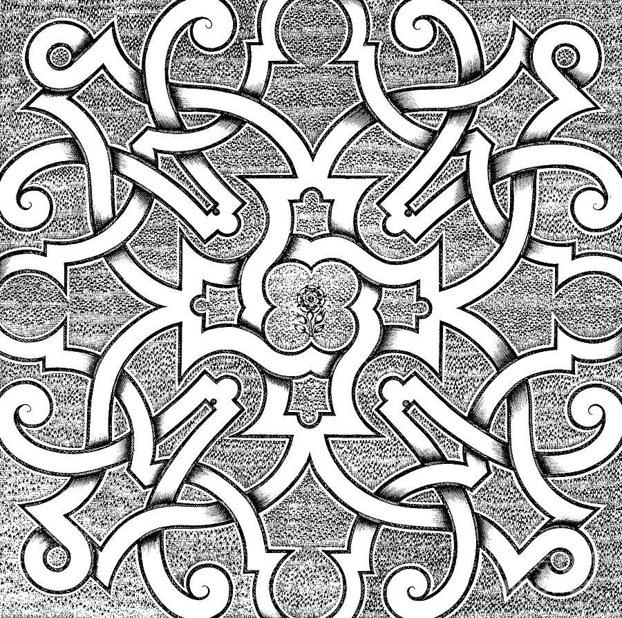 Symmetry Drawing - Symmetrical Design For Parterre by Jacques Mollet