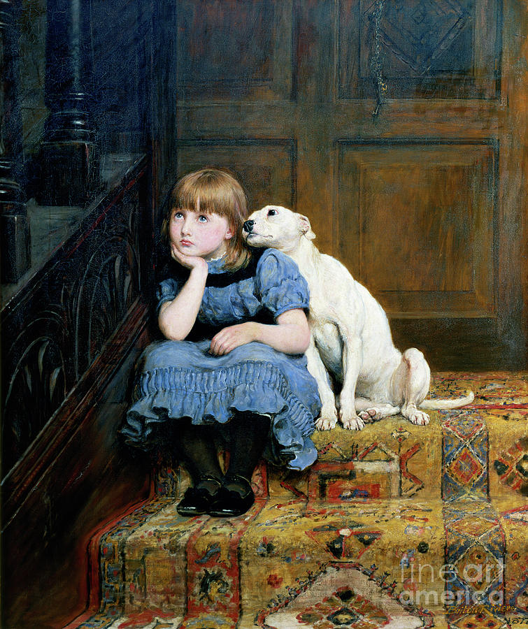 Sympathy Painting - Sympathy by Briton Riviere