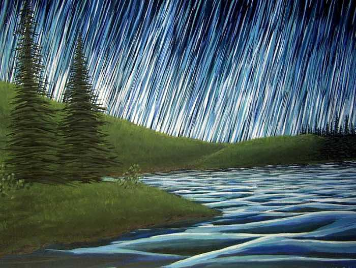 Aurora Borealis Painting - Symphony by Cedric Colond