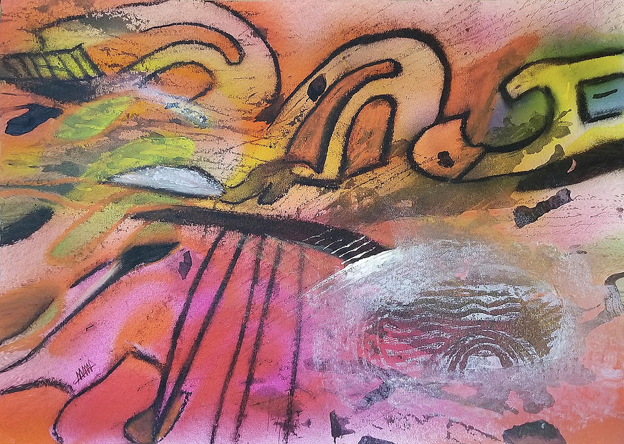 Music Abstract Painting - Symphony by Maura Satchell