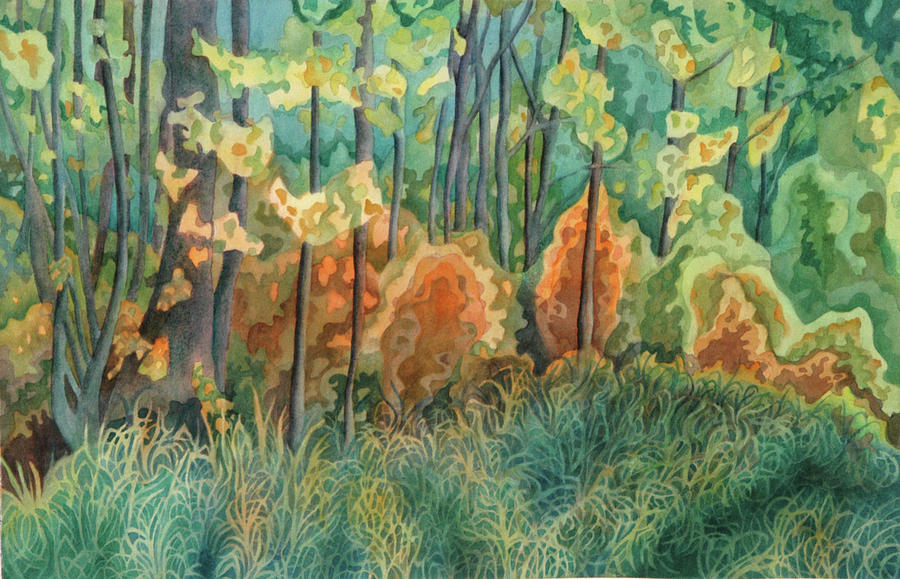 Watercolor Painting - Symphony Of Light by Anne Havard
